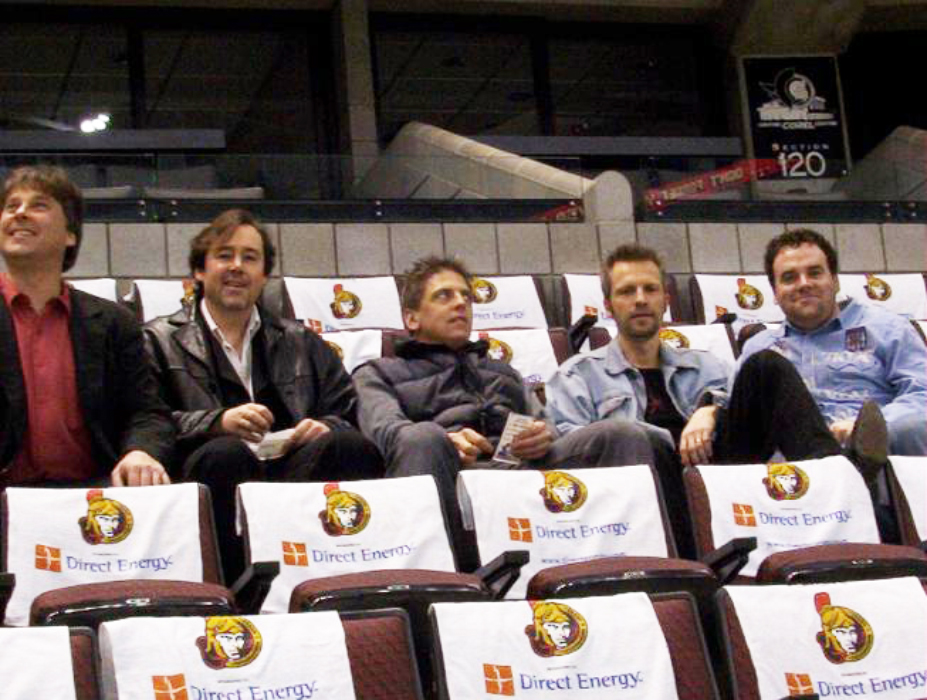 2004-04-18 Pikes & Jeff Liberty At Ottawa Senators Playoff Game