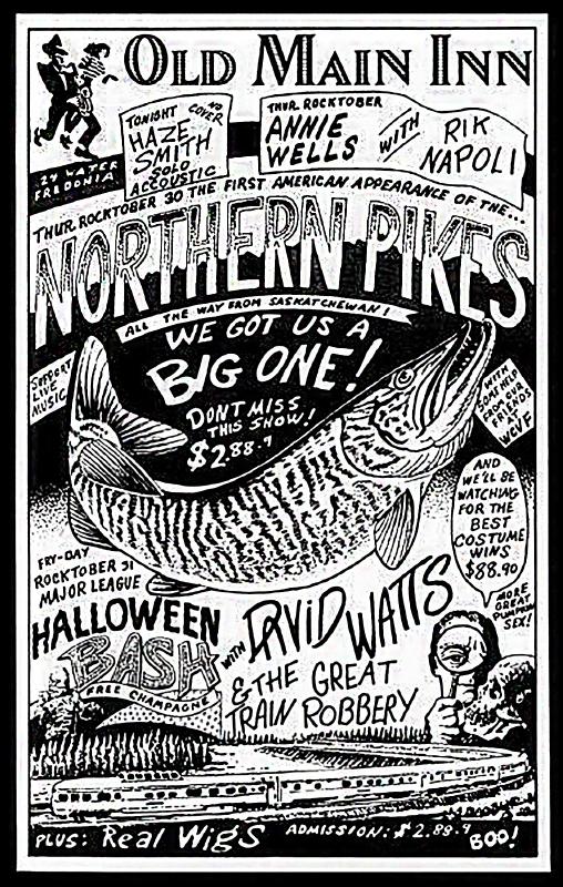 """1986-10-30 First USA gig """"Old Main Inn"""" Fredonia NY"""